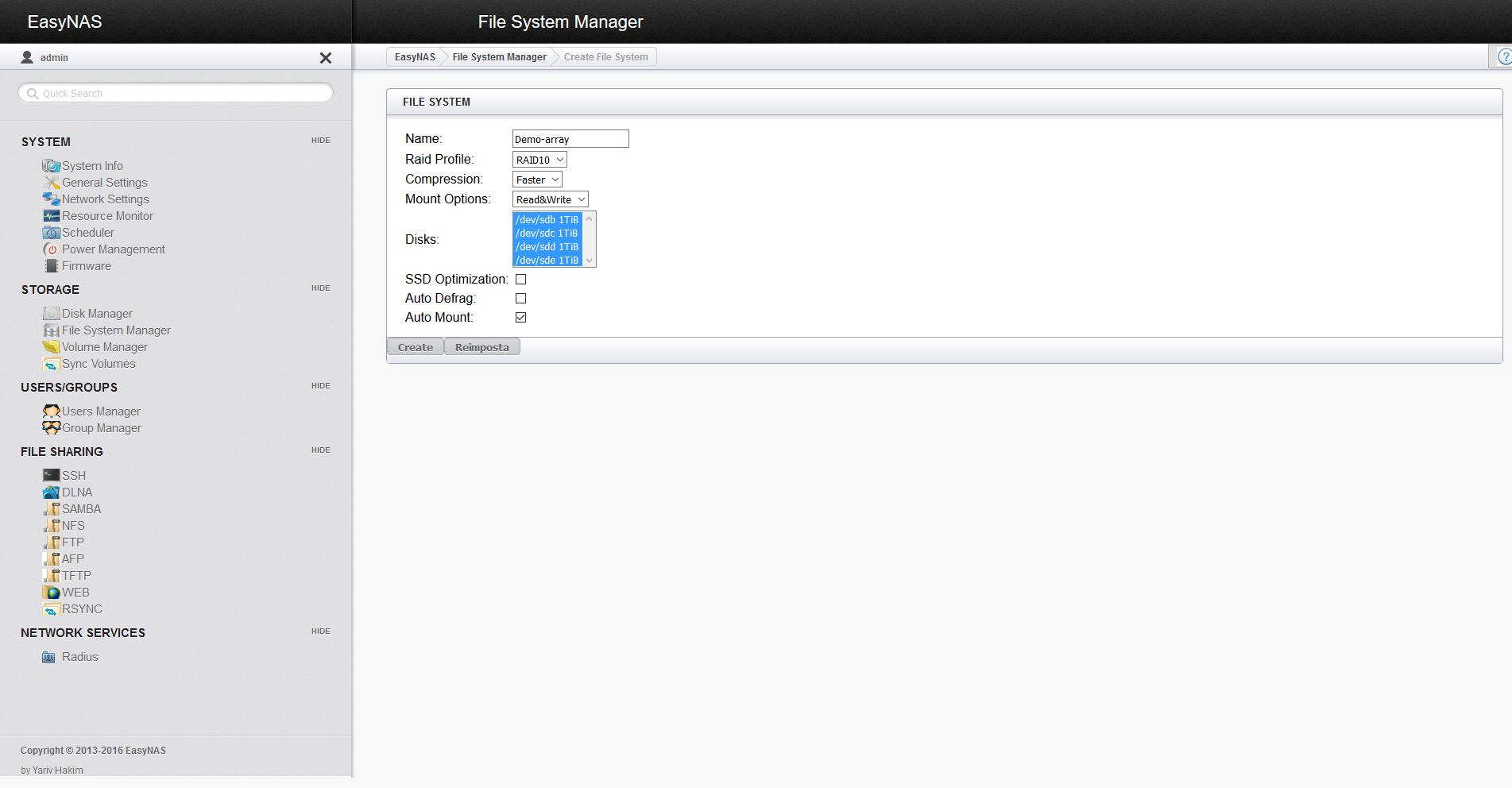 EasyNAS: review of an openSUSE-based NAS distro – Marksei